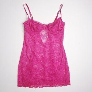 Victoria's Secret Pink Sheer Lingerie Dress